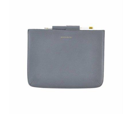 Housedoctor Cover Ipad blauw leer/katoen 29x22cm