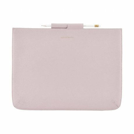 Housedoctor Cover Case Pro rosa Leder / Baumwolle 35,5x26,5cm