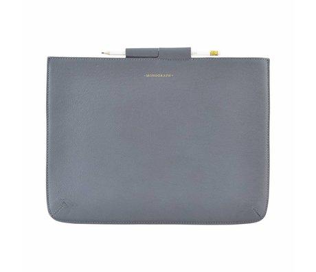 Housedoctor Housse Etui Pro en cuir bleu / coton 35,5x26,5cm
