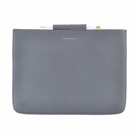 Housedoctor Cover Ipad Pro blauw leer/katoen 35,5x26,5cm
