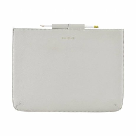Housedoctor Cover Case Pro grau Leder / Baumwolle 35,5x26,5cm