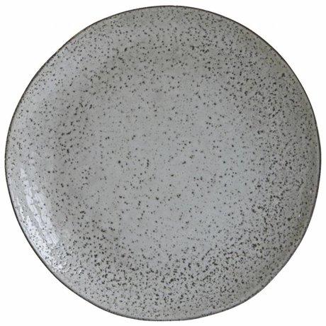 Housedoctor Speiseteller Rustic grau blau Keramik ø27,5x2,8cm