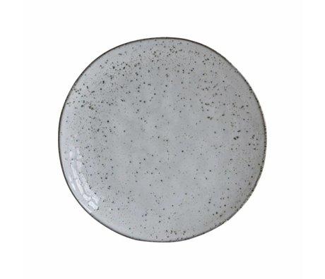Housedoctor Assiette à dessert rustique gris bleu ø20,5x2cm céramique