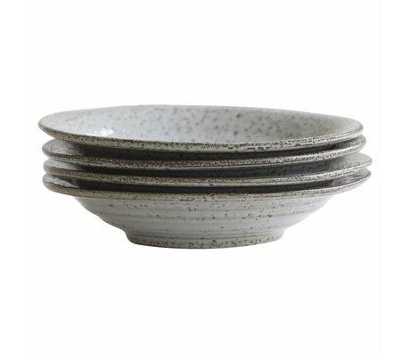 Housedoctor Tiefer Teller Rustic grau blau Keramik ø25x5cm