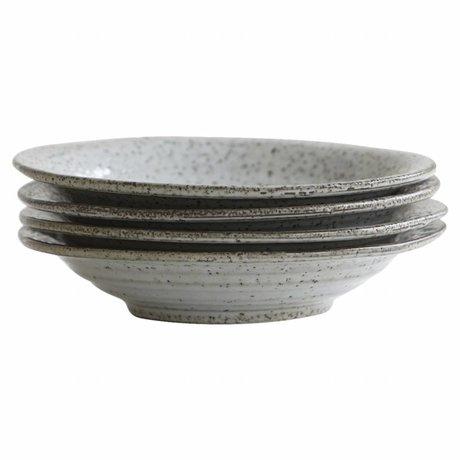 Housedoctor Assiette creuse rustique gris bleu ø25x5cm céramique
