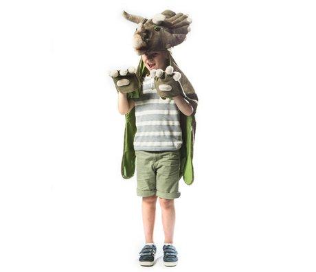 Wild and Soft Vermomming Dino donkergroen textiel 114x123x33cm