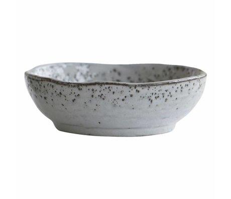 Housedoctor Dish Rustic Gray Blue Ceramic Ø14x4.5cm