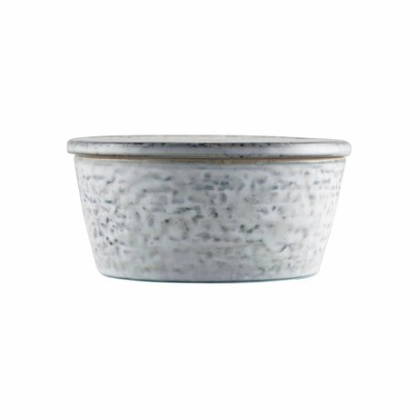 Housedoctor Lagertablett Rustic grau blau Keramik ø11x5,5cm