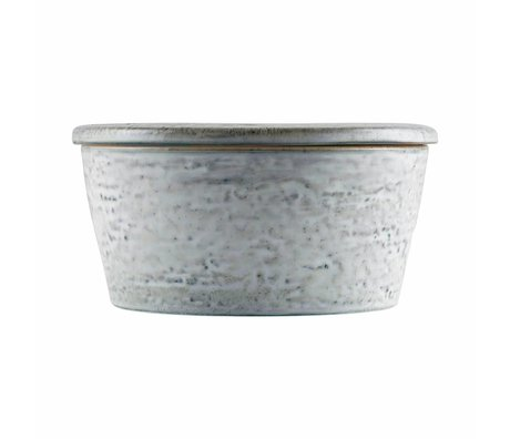 Housedoctor Lagertablett Rustic grau blau Keramik ø14x7cm