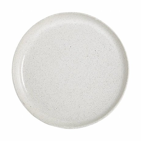 Housedoctor Serving board By Hand white clay ø27,5x2cm