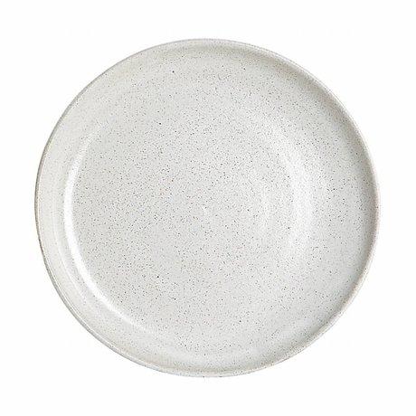 Housedoctor Par plaque dîner argile blanche à la main ø22,5x2cm