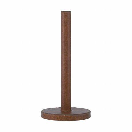 Housedoctor cuir serviette peau bois brun ø14x30.8cm