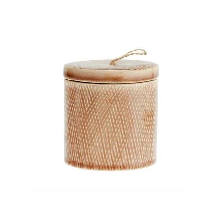 Madam Stoltz Stock Pot Roze poussiéreux 10x11cm en céramique