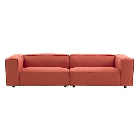 FÉST Dunbar Bank 3-Sitzer Terrakotta Hero541 kvadrat 302x103cm