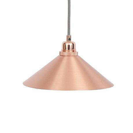 Frama Hanglamp Cone koper metaal met E27 fitting S Ø25cm