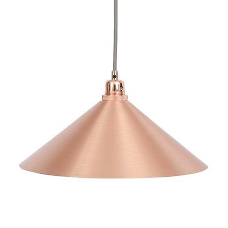 Frama Hanglamp Cone koper metaal met E27 fitting M Ø36cm