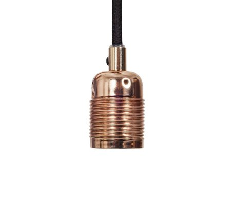 Frama Electrical cord with copper fitting e27 black metal Ø4x7,2cm