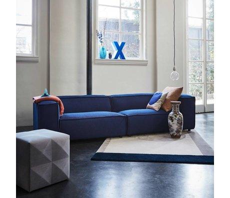 FÉST Bank Dunbar 3-zits donkerblauw Sprinkles Parrot 302x103cm