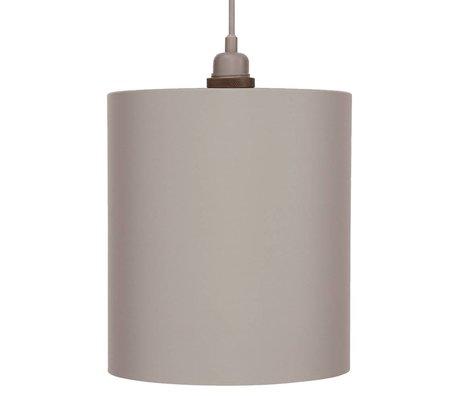 Frama Cylinder pendant light gray aluminum with E27 L Ø24cm