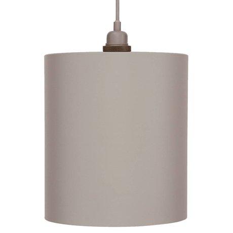 Frama aluminium gris clair pendentif cylindre avec E27 L Ø24cm
