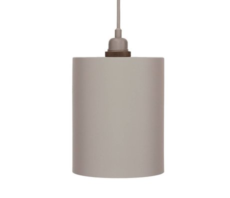 Frama aluminium gris clair pendentif cylindre avec E27 M ø17cm
