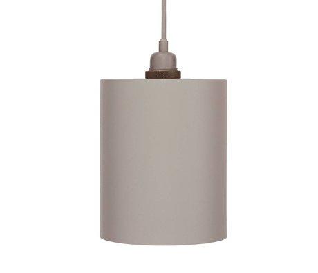 Frama Cylinder pendant light gray aluminum with E27 M ø17cm