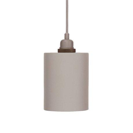 Frama Cylinder pendant light gray aluminum with E27 S Ø12cm