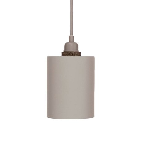 Frama Hanglamp Cylinder grijs aluminium met E27 fitting S Ø12cm