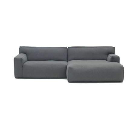 FÉST Sofa Clay anthracite gray Sydney96 1,5-seater and divan left or right