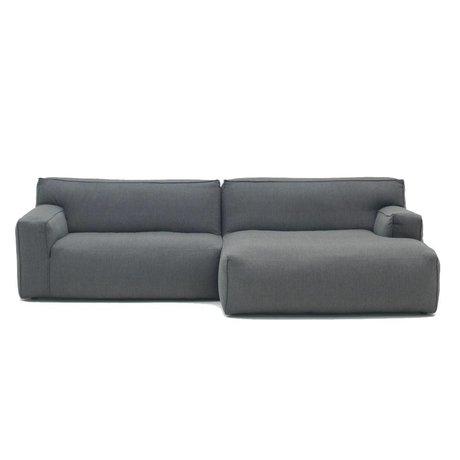 FÉST Sofa Clay anthrazitgrau Sydney96 1,5-Sitzer und Diwan links oder rechts