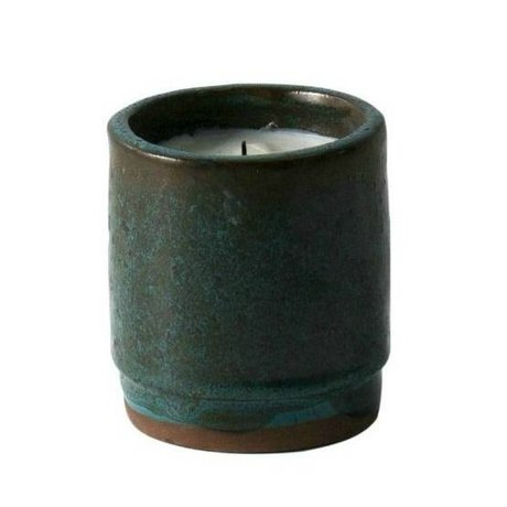 Ferm Living Scented Candle green ceramic soy wax ø9x10cm