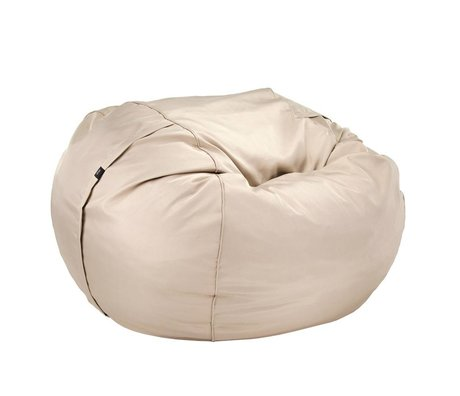 Vetsak Freier Outdoor Sitzsack Doppel beige Polyester Ø140x90cm 1000Liter