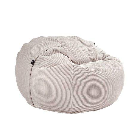 Vetsak Beanbag Cord Velour einzigen beige gerippten velvet Ø110x70cm 600 Liter