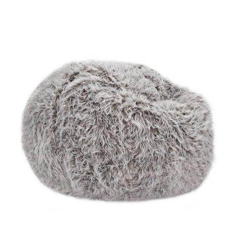 Vetsak Zip flokati single gray polyester Ø110x70cm 600 liters