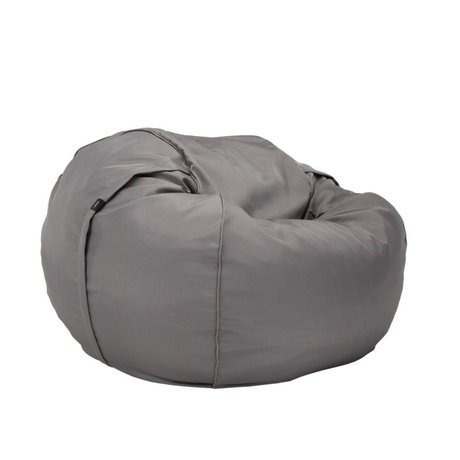 Vetsak Freie Outdoor Sitzsack einzigen grauen Polyester Ø110x70cm 600 Liter