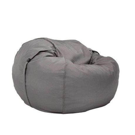 Vetsak Zitzak Free outdoor eenpersoons grijs polyester Ø110x70cm 600 liter