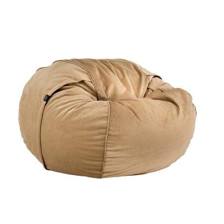 Vetsak Beanbag Velvet einzelner Karamell brauner Samt Ø110x70cm 600 Liter