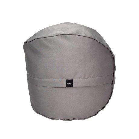 Vetsak Tabouret extérieur gratuit Ø60x60cm polyester gris 100 litres