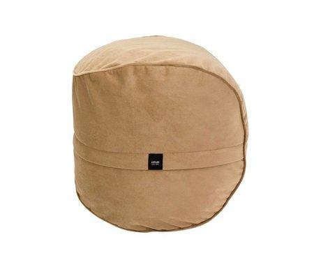 Vetsak Footstool Velvet caramel brown velvet Ø60x60cm 100 liters