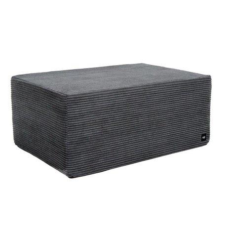 Vetsak Hocker Cord Velours Dark Gray Ribbed Velvet L 90x58x40cm