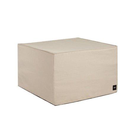 Vetsak Hocker beige extérieur gratuit polyester M 58x58x40cm