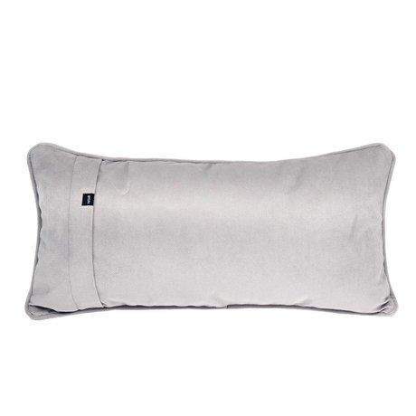 Vetsak Sierkussen Velvet light gray velvet 60x30cm
