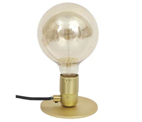 Frama Table lamp with E27 fitting gold brass brass Ø12x7,2cm