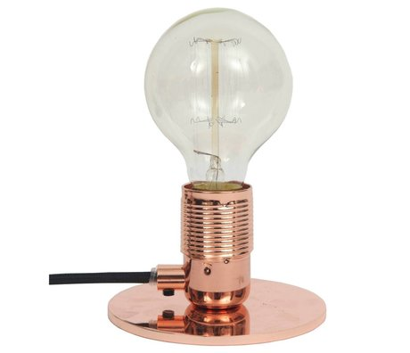 Frama Table lamp with E27 fitting copper brass Ø12x7,2cm