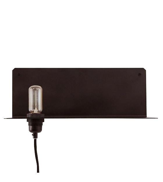 Wandplank Met Lamp.Frama Wall Lamp 90 Wall Black Metal 40x15x15cm