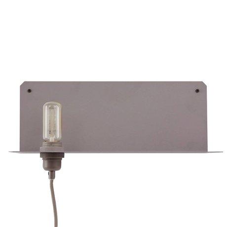 Frama Wall lamp 90 ° wall gray metal 40x15x15cm