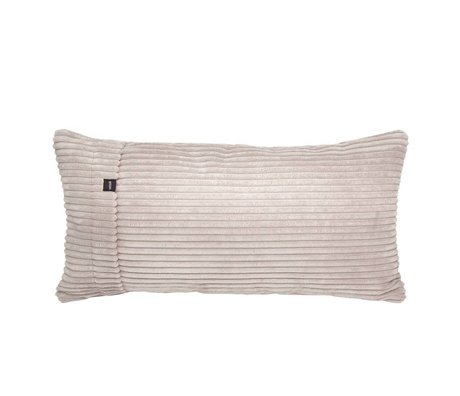 Vetsak Ornamental cushion Cord velours beige ribbed velvet 60x30cm