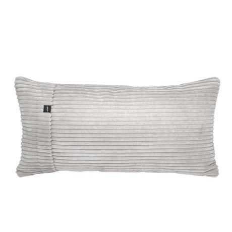 Vetsak Kissen Cord Velour Platin gerippter Samt 60x30cm