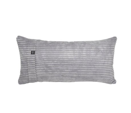 Vetsak Cushion Cord Velours Light Gray Ribbed Velvet 60x30cm