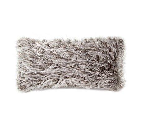 Vetsak Coussin Flokati 60x30cm polyester gris